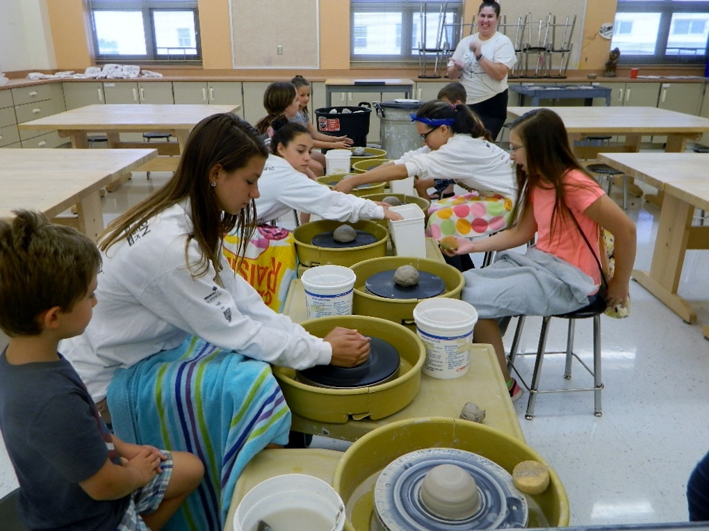 Campers who attend the 2018 Summer Art Studio at Plainfield East High School will learn about ceramics like these attendees did during last year's camp. The camp runs from Monday, July 9, 2018 to Thursday, July 12, 2018.