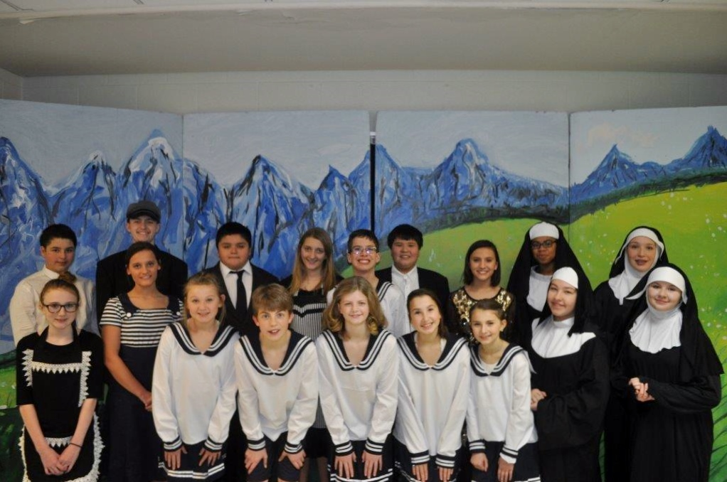 "The cast of the Ira Jones Middle School production of ""The Sound of Music"""
