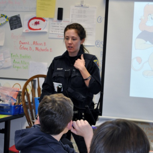 DARE officers visit Central ES (March 2017)