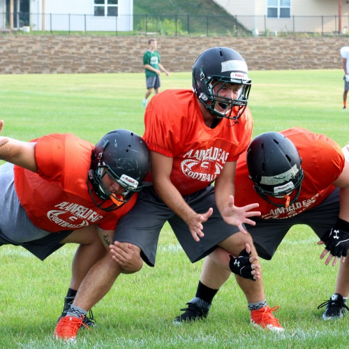 Summer football camp, PEHS, 07.20.2017