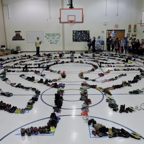 Shoe labyrinth, Charles Reed ES, 03.10.2017