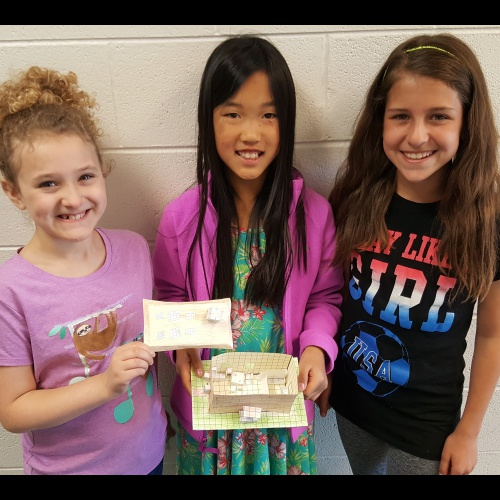 Third and fifth grade honors students created tiny house models, 05.18.2017