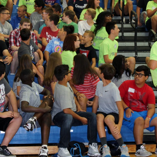 Freshmen orientation with the Link Crew, 08.11.2017