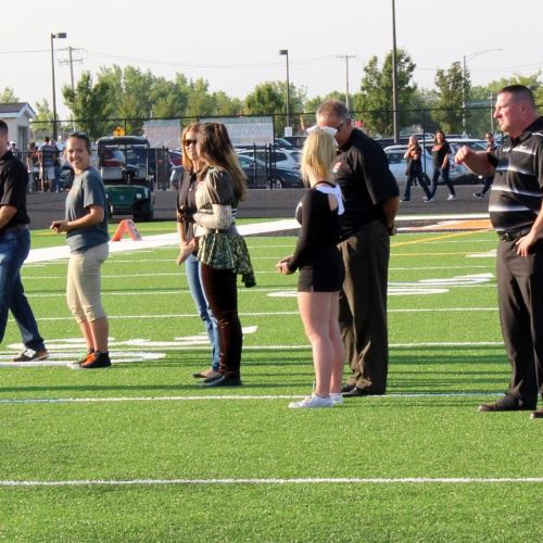 Ribbon cutting ceremony for the new field turf, 08.25.2017