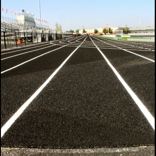 Turf work: Track striping, 09.14.2017