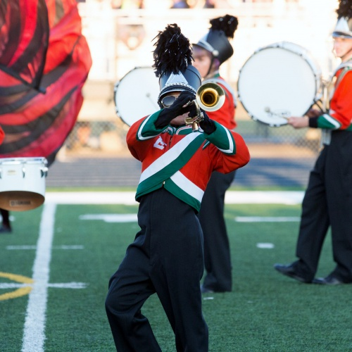 Marching band competes at PSHS invitational, 09.23.2017