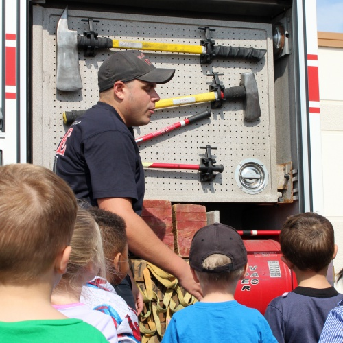 Plainfield Fire Protection District firefighters visit, 10.02.2017