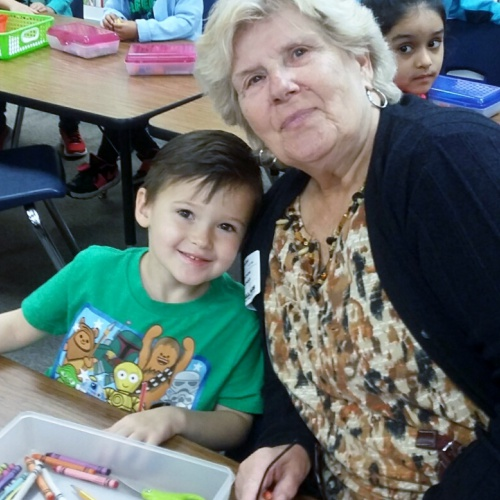 Kindergarteners celebrate grandparents, 10.06.2017