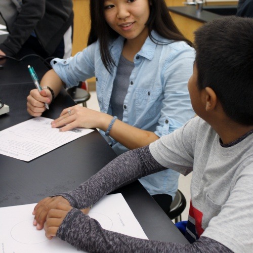 AP, Honors biology students mentor fifth graders, 10.19.2017