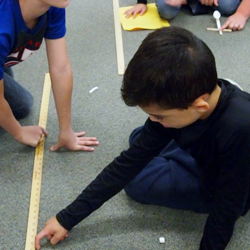 Fourth graders make, test catapults, 10.23.2017