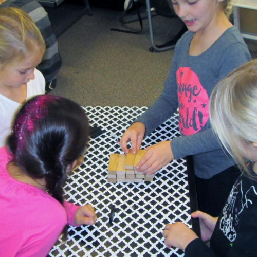 Kindergartners, 2nd graders tackle Halloween STEM work, 10.31.2017