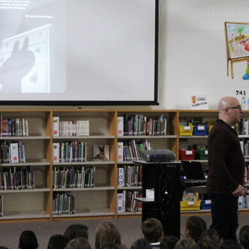Author Aaron Reynolds visit, 11.15.2017
