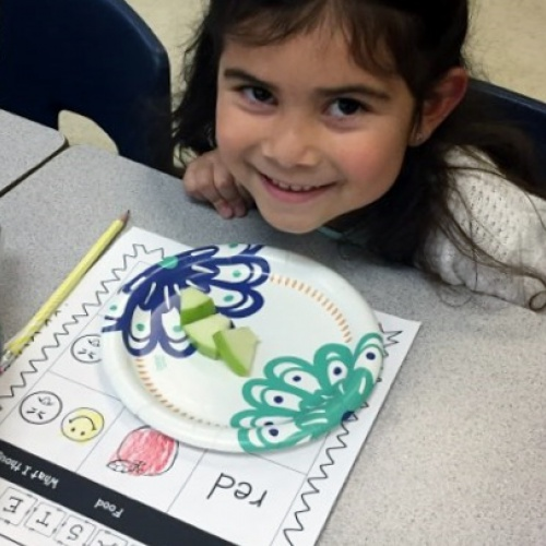 PM bilingual/ESL classroom students learn about 5 senses, November 2017