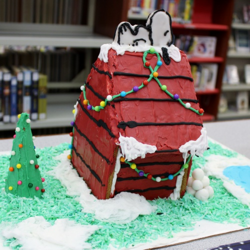 Literary gingerbread house creations, 12.19.2017