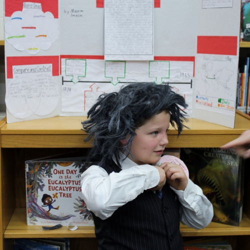 3rd grade Living Wax Museum of historical figures, 01.26.2018