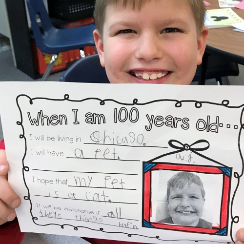 Second graders celebrate 100 days of school, 01.29.2018