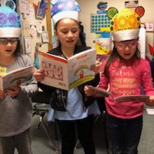 Students celebrate 100 days of school, 01.29.2018