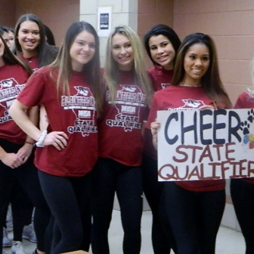 Send off for varsity cheerleaders headed to state, 02.02.2018