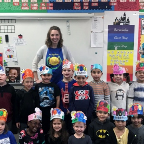 Kindergartners celebrate 100 days of school, 01.29.2018