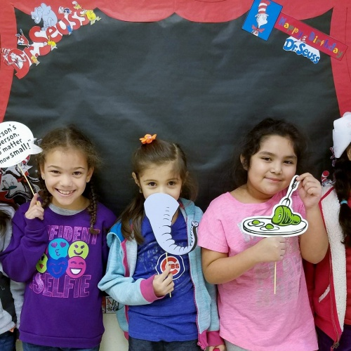 Students celebrate Dr. Seuss' birthday, 03.01.2018