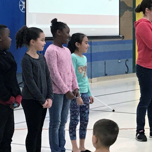 Celebrating kindness with an assembly, positive message, February 2018