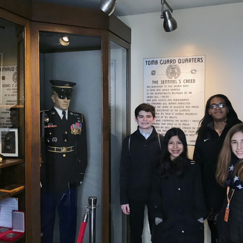 Eighth graders visit Washington, D.C., February 2018