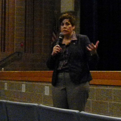 Illinois State Sen. Jennifer Bertino-Tarrant meets with students, 03.16.2018