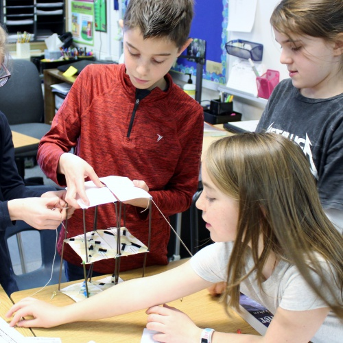 Third-grade honor students build earthquake proof structures, 03.13.2018