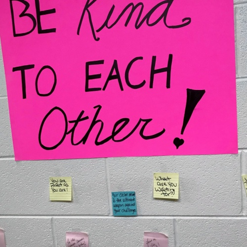 Kindness notes campaign, 04.10.2018