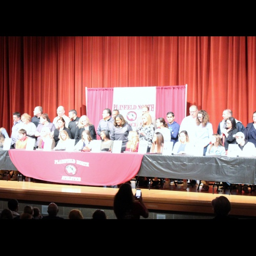 Spring athletic college signing day, 04.11.2018