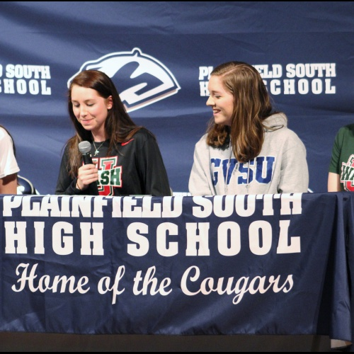 Student athletes sign letters to play sports in college, 04.11.2018