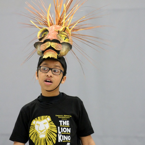 Students rehearse for The Lion King Jr., performance, 04.19.2018