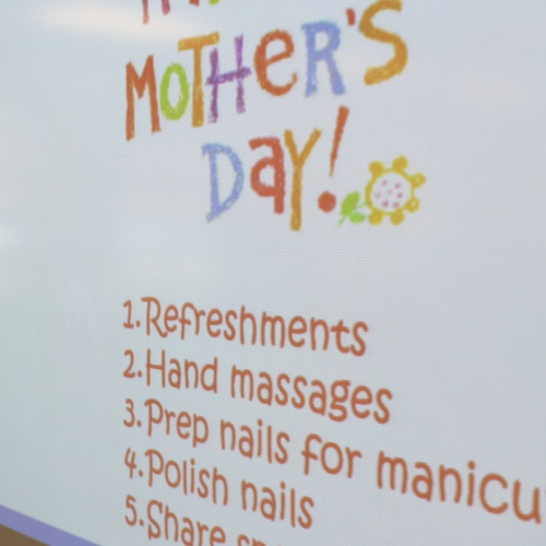 Third grade Mother's Day Manicures, 05.10.2018