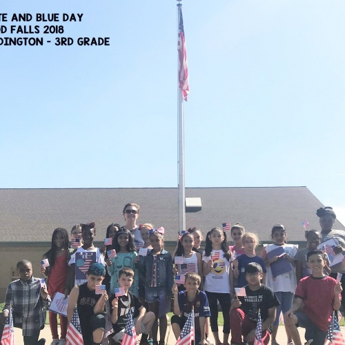 Third grade Red, White and Blue Day, May 2018