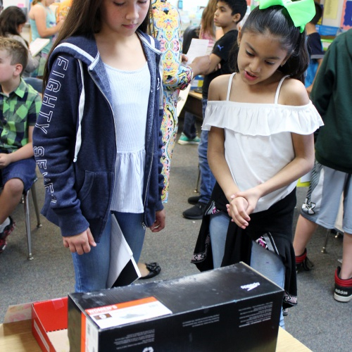 Second graders show off zoo exhibits to fifth graders, 05.22.2018