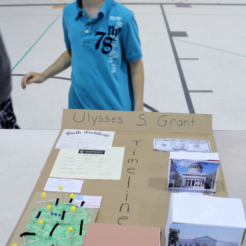 Fifth grade Civil War faces project, 05.18.2018