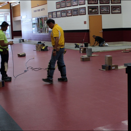 UPDATED: Crews install new tile in main hallway, 06.06.2018