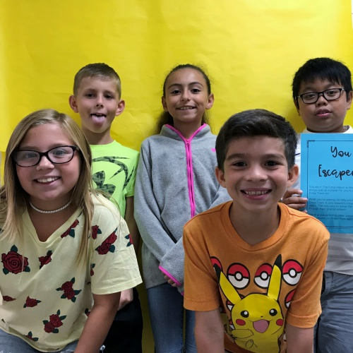 Fourth graders learn place value with Escape Room activity, 09.13.2018