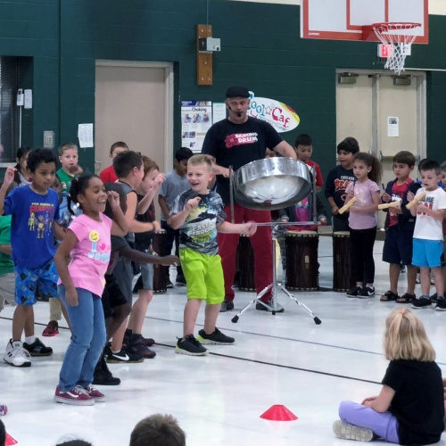 Drumming character assembly