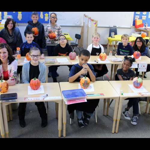FBI students paint pumpkins for family, 11.15.2018