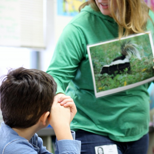 Second graders learn about local wildlife in winter, 01.17.2019
