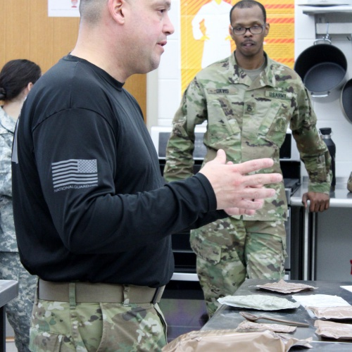 Culinary students create dishes with military packaged meals, 01.18.2019