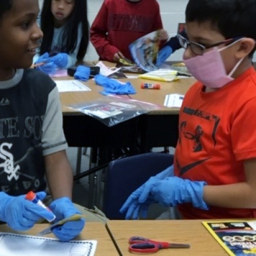 Second graders perform text surgery