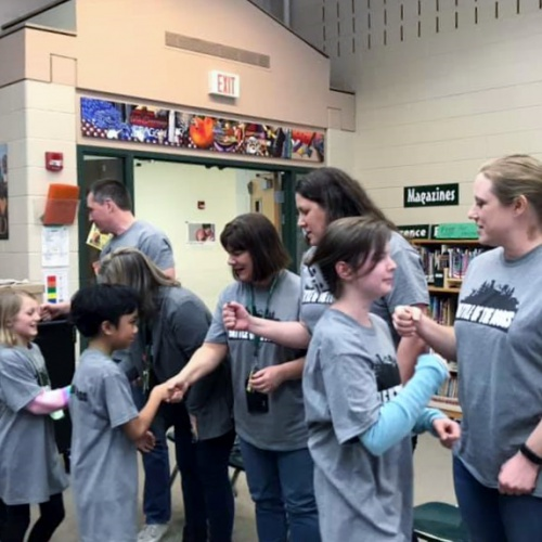 Battle of the Books teacher vs. fifth graders, 02.08.2019