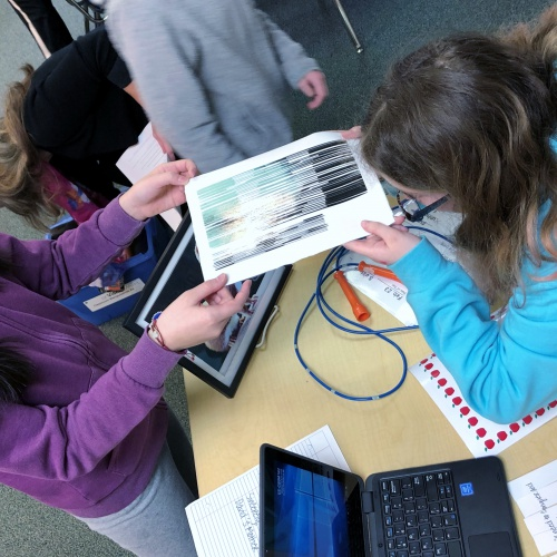 Fifth graders take on teacher role in classroom simulation