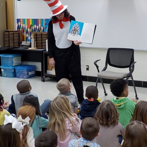 Cat in the Hat visit to celebrate Dr. Seuss birthday