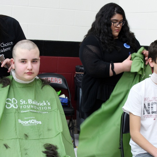 Students shave heads to raise money for St. Baldrick's Foundation, 03.15.2019