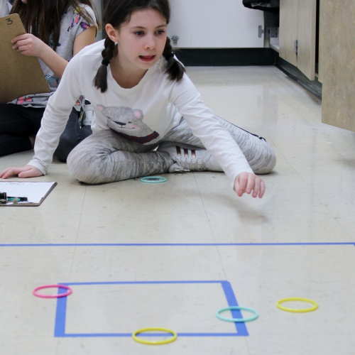 Third graders compete in fraction Olympics, 03.22.2019