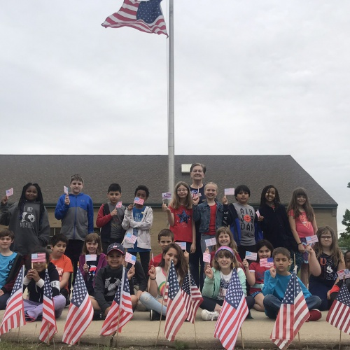 Red White and Blue Day 2019 with 3rd graders