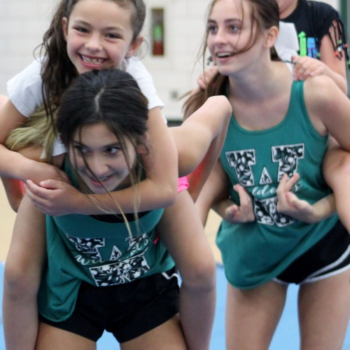 Youth cheer camp hosted by PHSCC varsity and junior varsity cheerleaders, 07.17.2019